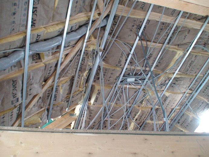 J pose des fen tres et du placo histoire singuli re construction d une maison ossature bois - Pose placo sur ossature bois ...